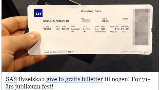 SAS misbruges i falsk konkurrence på Facebook