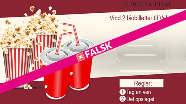 Nordisk Film Biografer misbruges: Over 2.000 snydt i falsk valentines-konkurrence