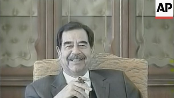 Falsk video: Saddam Hussein siger, at USA truede med coronavirus